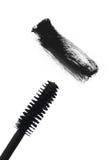 Black mascara brush stroke isolated on white Royalty Free Stock Photos