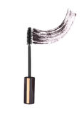 Black mascara brush strokes Royalty Free Stock Images