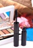 Black mascara cosmetic stock image