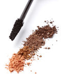 Black mascara and face powder Royalty Free Stock Photo