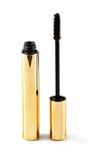 Black mascara wand and tube isolated on white Stock Image
