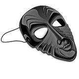 Black mask. Of parcelain, theater, culture Royalty Free Stock Photography