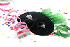 Black mask and party Royalty Free Stock Images