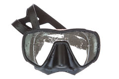 A black mask for scuba diving. Royalty Free Stock Photography