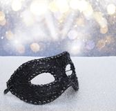 Mask with masquerade decorations Stock Image