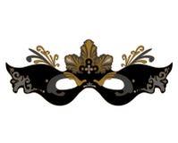 Black mask on a white background Royalty Free Stock Image