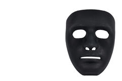 Black masks like human behavior, conception Royalty Free Stock Photography