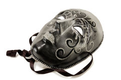 Black masquerade mask Stock Photo