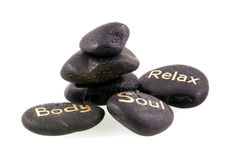 Black massage stones Stock Images