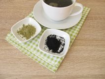 Black matcha tea Stock Photography