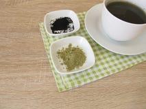 Black matcha tea Stock Images