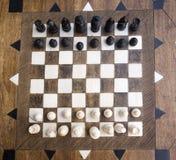 black maten för förlust för viktign för leken för slutet för schacket för brädeaffärskontrollen, metafor sommonokromen över strat Arkivbilder