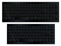 Black matt keyboard. Vector illustration. Black matte soft touch keyboard with 84 and 100 keys See also other keyboards in my portfolio includes format: EPS, JPG Vector Illustration