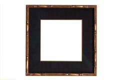 black mattt trä för ramguld Fotografering för Bildbyråer