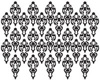Black maya motif Stock Images