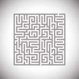 The black maze Royalty Free Stock Photography