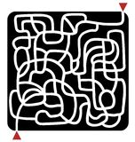 Black maze Stock Photo