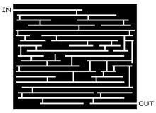 Black maze Stock Photos
