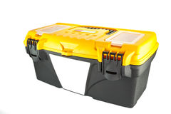 Black mechanic tool box. On a white background stock photography