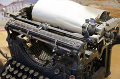 Black mechanical typebar typewriter Royalty Free Stock Photos