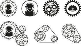 Black mechanism icon Stock Photo