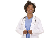 Black medical doctor Stock Photo
