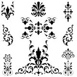 Black medieval ornaments Royalty Free Stock Image