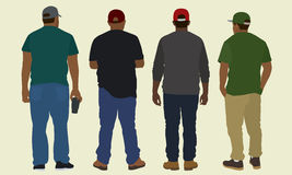 Black Men From the Back Stock Image