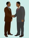 Black Men Handshake. Black business men shaking hands for a business deal Stock Image