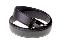 Black men leather belt Royalty Free Stock Photos