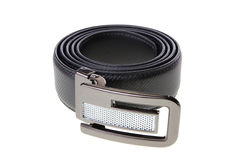 Black men leather belt Royalty Free Stock Image