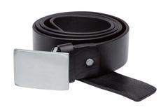 Black men leather belt isolated on white Royalty Free Stock Image