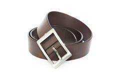 Black men leather belt isolated on white Stock Image
