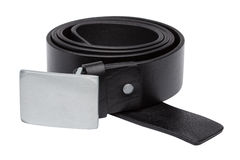 Black men leather belt isolated on white Royalty Free Stock Images
