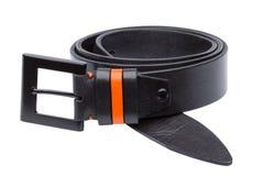 Black men leather belt isolated on white Stock Images