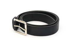 Black men leather belt Stock Photo