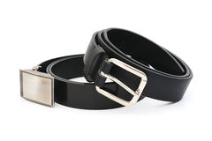 Black men leather belt Royalty Free Stock Photography
