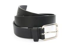 Black men leather belt Stock Photography