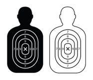 Black men paper targets. Two black men paper targets Stock Images