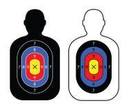 Black men paper targets. Two black men paper targets Royalty Free Stock Image