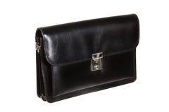 Black men's handbag Stock Images