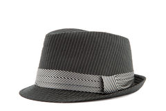 Black men's hat isolated on white Royalty Free Stock Photo