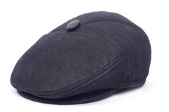 Black men's leather cap Royalty Free Stock Photos