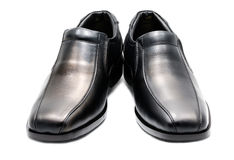 Black men's leather shoe Stock Photography