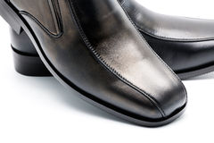 Black men's leather shoe Stock Photos