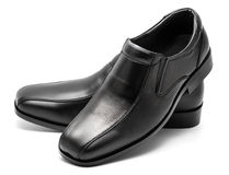 Black men's leather shoe Royalty Free Stock Images