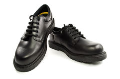 Black men's leather shoes Stock Image
