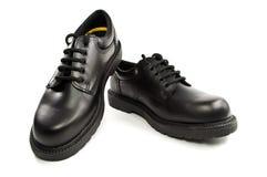 Black men's leather shoes Stock Image