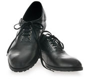 Black Men's leather shoes Stock Images
