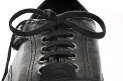 Black Men's leather shoes Royalty Free Stock Image